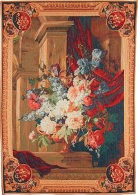 Baroque Bouquet tapestry - architectural wall tapestries