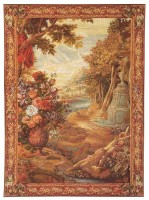 Bouquet in Landscape tapestry - 18th century Flemish tapestries