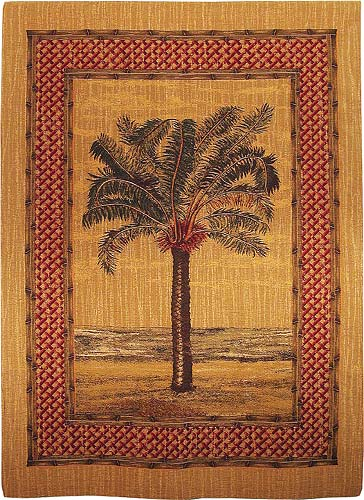 Palm Tree wall hanging - chenille woven in Belgium