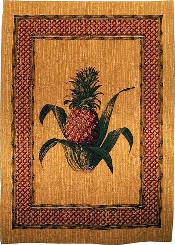 Pineapple wall-hanging - woven in Belgium