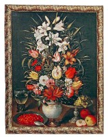 Flowers in a Vase tapestry - Breughel tapestries