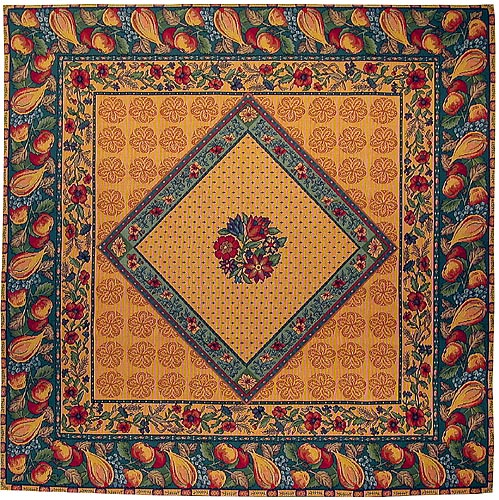 Provencal tablecloth - French tapestry wall hanging or throw