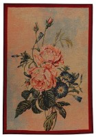 June Bouquet of Roses tapestry - woven in France