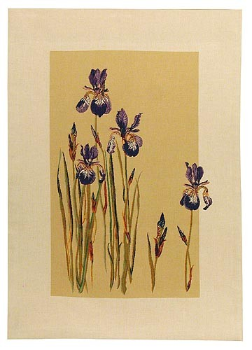 Bearded Irises tapestry - French wall tapestry