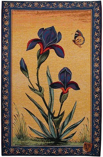 Iris Flowers tapestry - woven in France