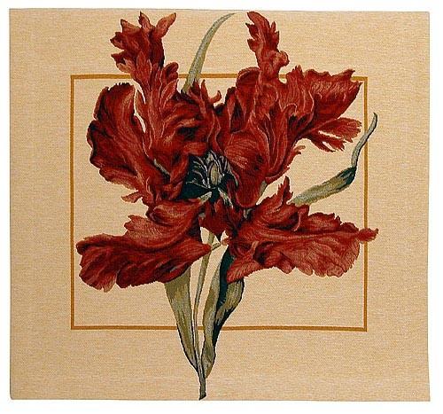 Tulipa square tapestry - Tulipa Munstrosa by Redoute