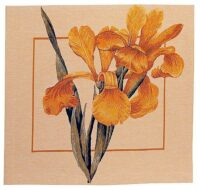 Iris Monnieri square tapestry - woven in France