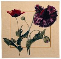 Rosa Gallica square tapestry - contemporary floral art