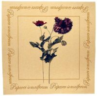 Papaver tapestry, tablecloth - botanical tapestries
