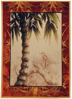 Tropical Palm Tree tapestry - fine French tapestries