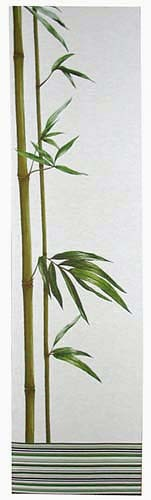 Bamboo white tapestry - French portiere tapestries