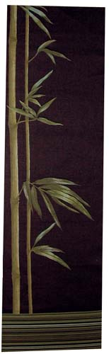 Bamboo black tapestry - woven in France