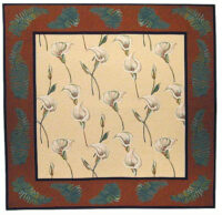 Calla Lilies and Ferns tablecloth - tapestry wall hanging