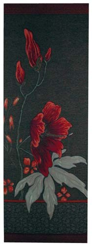 Dark Althea portiere - French tapestry wall-hanging