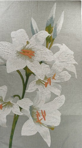Lilies tapestry - botanical wall tapestry