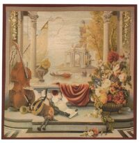 Grand Harbour square tapestry - Port de Toscane wall tapestries