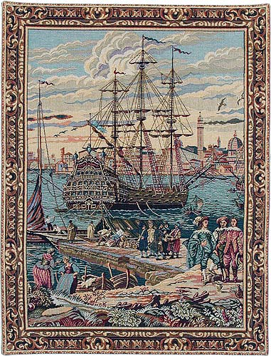 The Galleon tapestry - Venetian painting