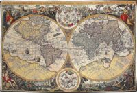 Orbis Terrae map tapestry - world maps wall tapestr