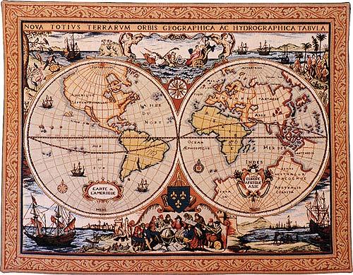 World Map tapestry - Nova Totivs Orbis