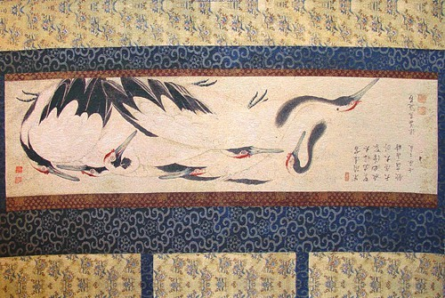 Crane Birds tapestry - oriental Chinese tapestries