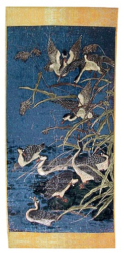 Panel with Ducks tapestry - Belgian tapestry wallhanging