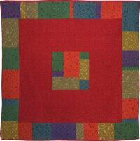 Mosaic tablecloth or tapestry - French tapestry weave