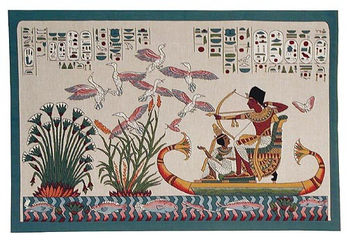 Papyrus tapestry - Egyptian tapestries