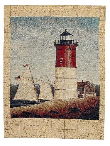 Red Lighthouse tapestry - French tapestries