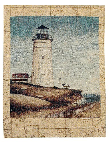 White Lighthouse tapestry - French wall tapestries