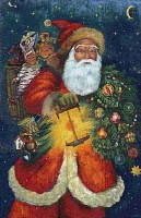 Santa Claus tapestry - Saint Nicolas de Bari - Father Christmas