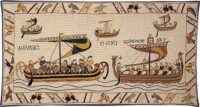 The Norman Fleet tapestry - Duke William's ships
