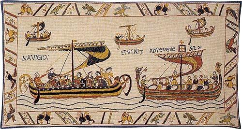The Norman Fleet tapestry - Duke William's ships