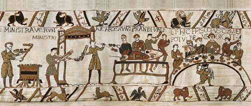 The Bayeux Banquet - medieval wall tapestry