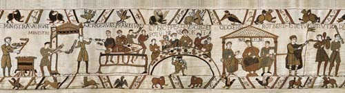 The Bayeux Tapestry Banquet - medieval tapestry