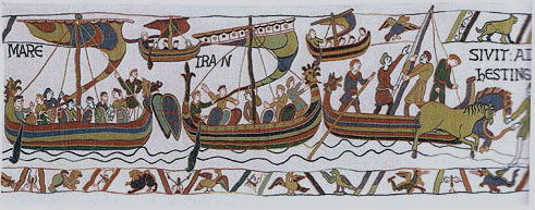 Bayeux Tapestry Armada - Norman ships - French wall-hanging