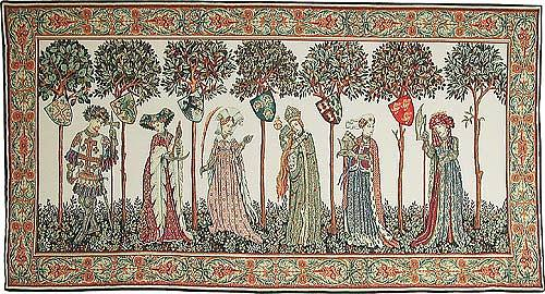 La Manta tapestry - Nine Worthies wall tapestry