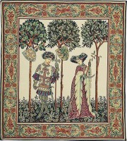 La Manta - two figures, Nine Worthies tapestry