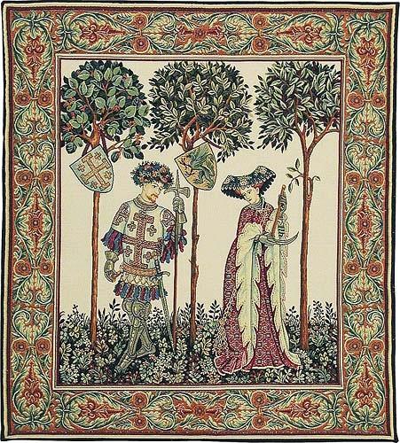 La Manta - two figures, Nine Worthies tapestry