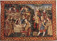 Les Vendanges tapestry - French tapestry wall-hanging