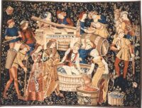The Grape Harvest tapestry - Cluny Museum Paris