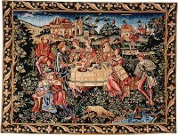 The Banquet tapestry - woven in France