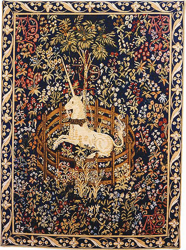 The Captive Unicorn tapestry - unicorn tapestries