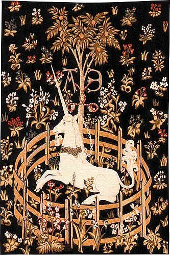 The Unicorn in Captivity - French medieval tapestries