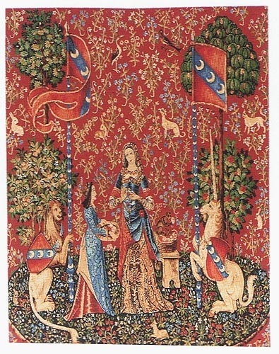 Smell tapestry - Lady with the Unicorn tapestries