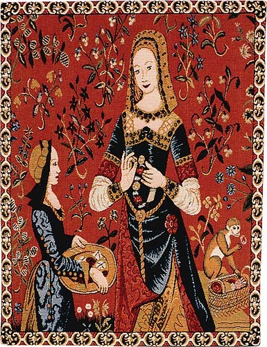 Smell tapestry wallhanging - Lady and the Unicorn tapestries