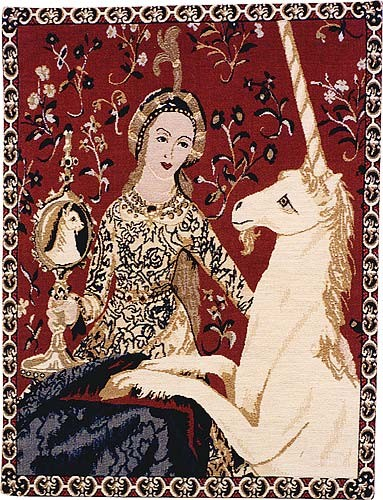 Sight tapestry wall-hanging -Lady and the Unicorn