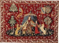 A Mon Seul Desir tapestry with border - Lady with the Unicorn tapestry