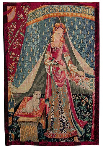 Lady with a Dog tapestry - A Mon Seul Desir