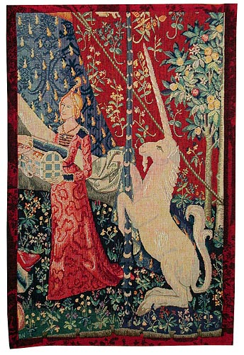The Maid with the Unicorn tapestry - A Mon Seul Desir