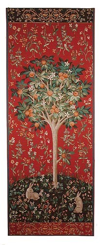 Medieval Orange Tree tapestry - Lady and the Unicorn tapestries